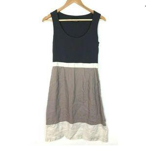 Cynthia Rowley sz4 Linen Dress Striped Sleeveless